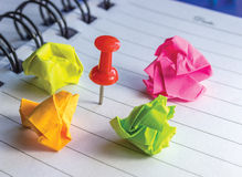 Pin and Color papper Stock Images