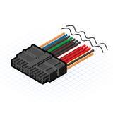 24 Pin Connector Vector Illustration isométrique Image libre de droits