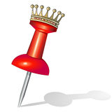 Pin with crown Royalty Free Stock Photo