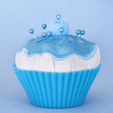 Pin Cushion. In shape of a cupcake, with pearl-headed pins stock photo