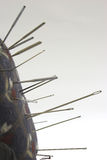 Pin Cushion. Pins in a Pin Cushion Royalty Free Stock Photo