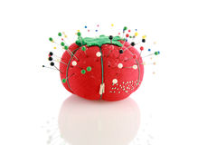 Pin cushion isolated Royalty Free Stock Image