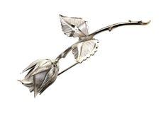 Pin d'argento della Rosa Fotografia Stock