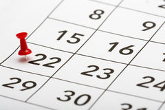 Pin on the date number 13. Royalty Free Stock Image