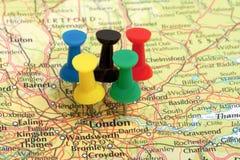 Pin de carte de Jeux Olympiques de Londres Photo libre de droits