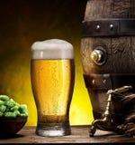 Pin de la cerveza y del vidrio de cerveza Fotos de archivo libres de regalías