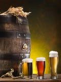 Pin de la cerveza y del vidrio de cerveza Imagen de archivo libre de regalías