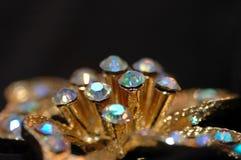 Pin del fiore del diamante Fotografia Stock Libera da Diritti