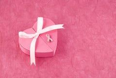 Pin del nastro di consapevolezza del cancro della mammella Immagine Stock