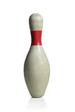 Pin di bowling bianco Fotografia Stock Libera da Diritti