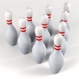 pin di bowling dieci Immagine Stock