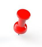 Pin di carta rosso di spinta illustrazione vettoriale