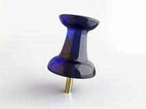 Pin do papel azul Foto de Stock