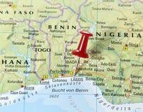 Pin eingestellt auf Lagos lizenzfreies stockbild