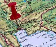 Pin en mapa Fotos de archivo libres de regalías