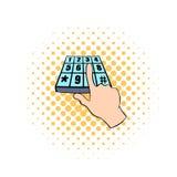 Pin entry icon, comics style Stock Photo