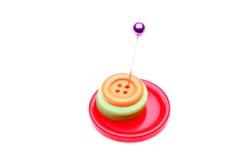 Pin et boutons Photographie stock libre de droits
