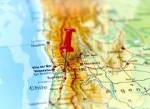 Pin fissato su Santiago fotografie stock libere da diritti