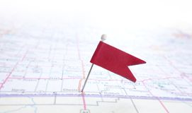 Pin flag Stock Photo