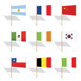 Pin flags Royalty Free Stock Photos