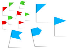 Pin flags for navigation and location service. Pin flags set for navigation and location service Stock Photos