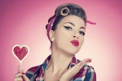 Pin herauf Mädchen lizenzfreie stockfotografie