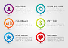 Pin Icon set for business. User Setting Chart Money Star Favouri. Te. Creative design royalty free stock photos