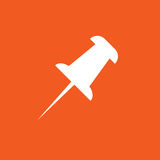 Pin icon simple illustration stock illustration