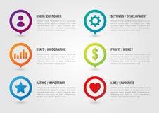 Pin Icon voor zaken wordt geplaatst die Gebruiker het Plaatsen de Ster Favouri van het Grafiekgeld Royalty-vrije Stock Foto's