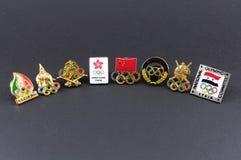 Pin (le Comité olympique de huit pays de l'Asie) Photographie stock