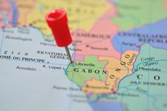 Pin in Libreville in Gabon Stock Photography