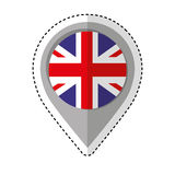 Pin location britain flag icon Stock Photo
