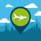 Pin location conveyance. Icon vector illustration design Stock Photo