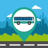 Pin location conveyance. Icon vector illustration design Royalty Free Stock Photo