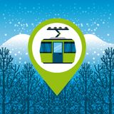 Pin location conveyance. Icon vector illustration design Royalty Free Stock Images