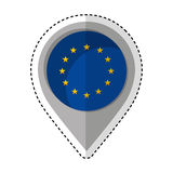 Pin location eu flag icon Stock Photography