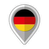 Pin location germany flag icon Stock Images