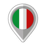 Pin location italy flag icon Royalty Free Stock Photos