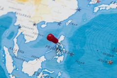 Manila Philippines World Map.A Pin On Manila Philippines In The World Map Stock Image Image Of