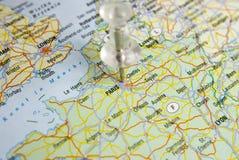 Pin map Stock Photos