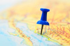 Pin and map Royalty Free Stock Images