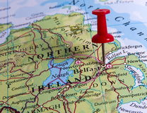 Pin in map Royalty Free Stock Image