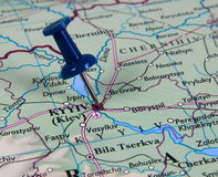 Pin in map Royalty Free Stock Photo