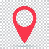 Pin map navigation localization icon image. Pointer minimal vector symbol, marker sign Royalty Free Stock Image