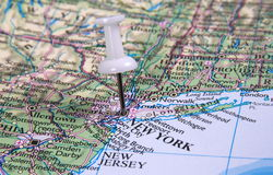 Pin in map Royalty Free Stock Photography