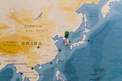 A Pin On Seoul South Korea In The World Map Stock Image Image Of
