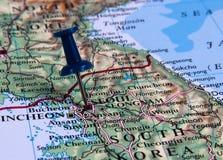 Pin in mappa Immagini Stock