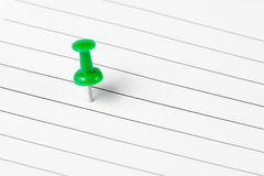 Pin marker on writing paper Stock Photography