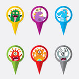 Pin Monster Pointer Icon Fotografia de Stock Royalty Free