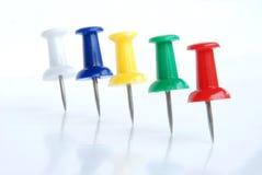 Pin multicolor del empuje Foto de archivo libre de regalías